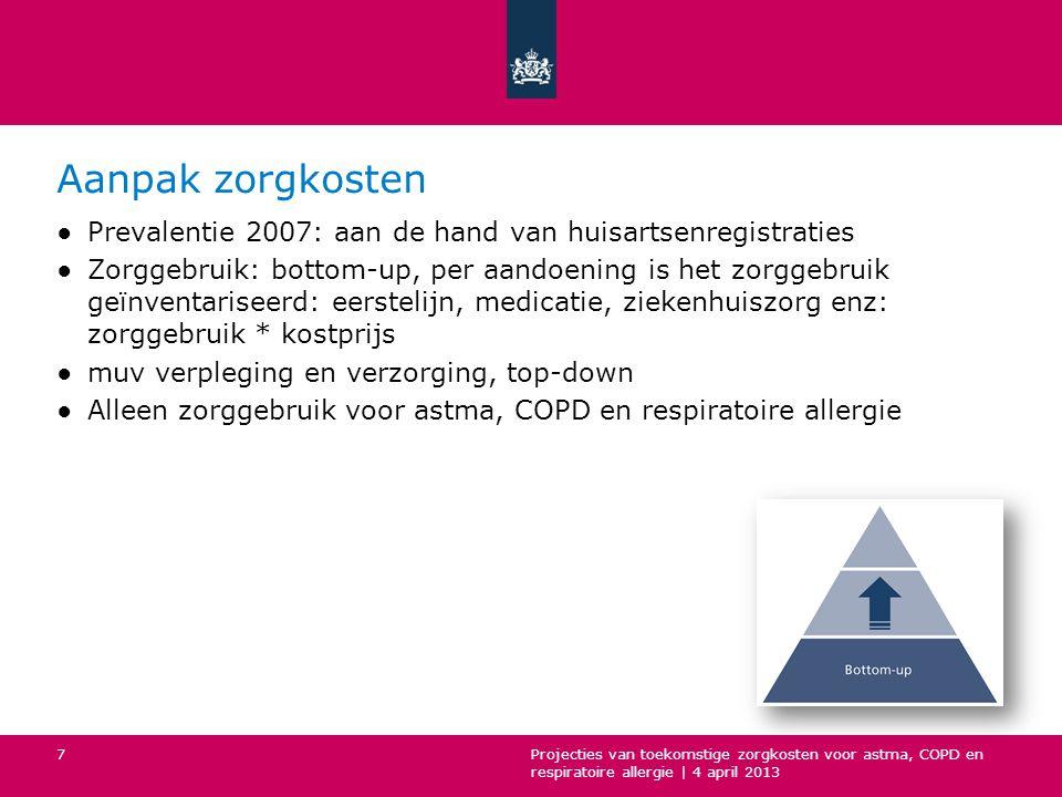 Aanpak zorgkosten Prevalentie 2007: aan de hand van huisartsenregistraties.