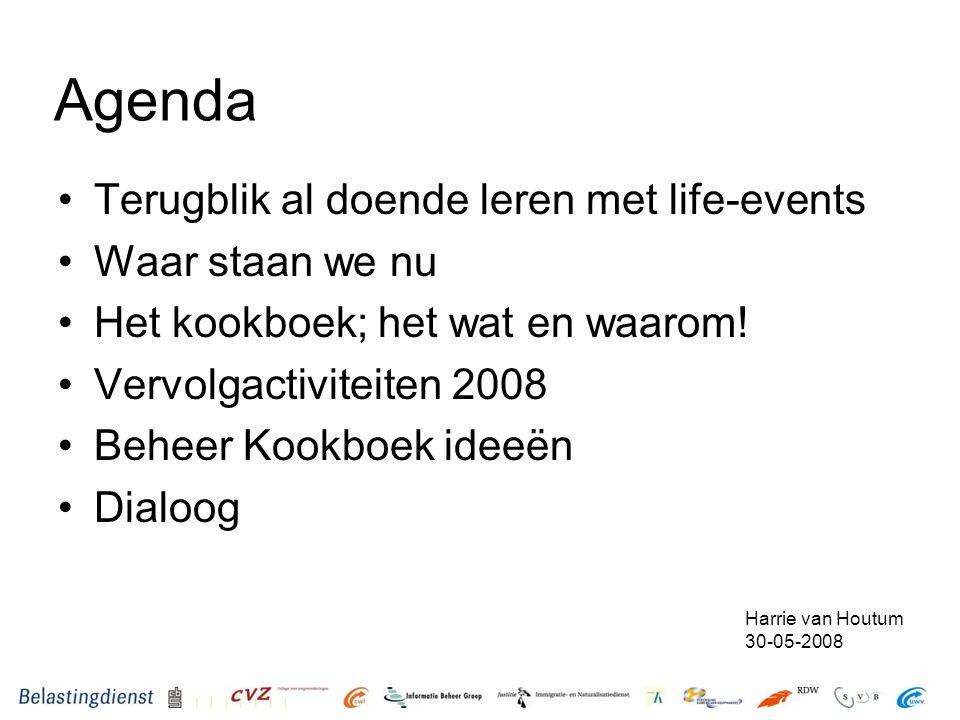 Agenda Terugblik al doende leren met life-events Waar staan we nu