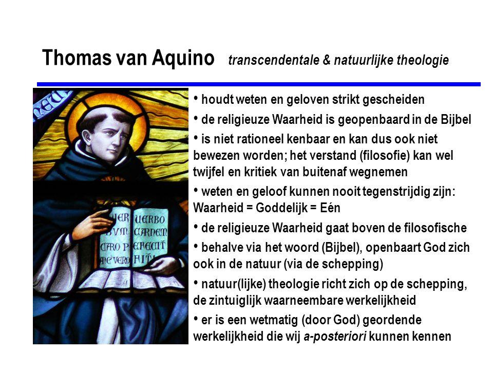 Thomas van Aquino transcendentale & natuurlijke theologie