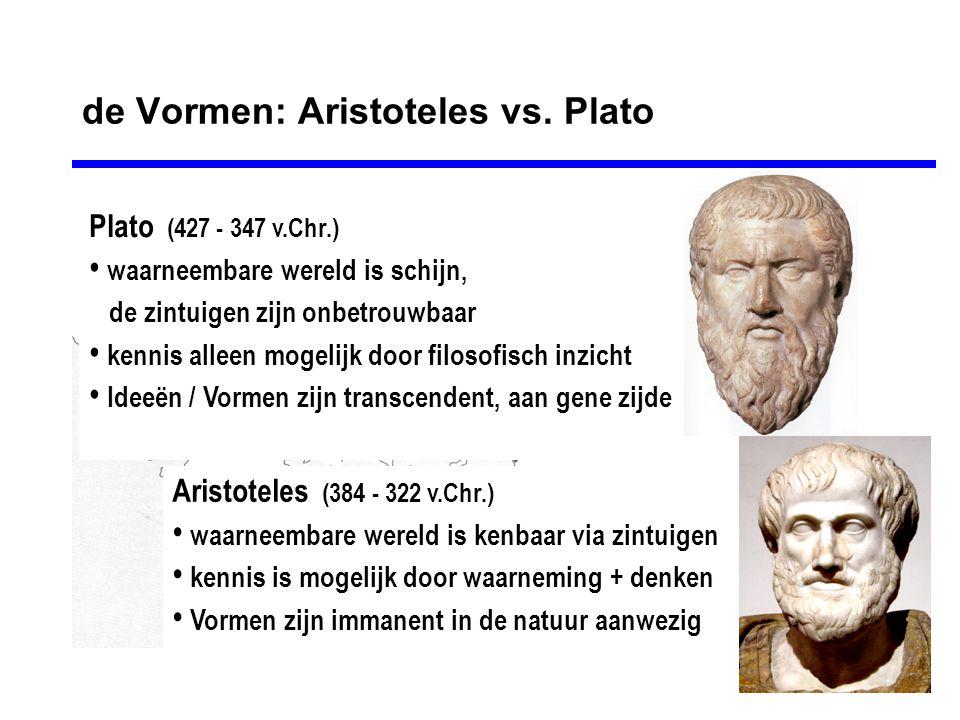 de Vormen: Aristoteles vs. Plato