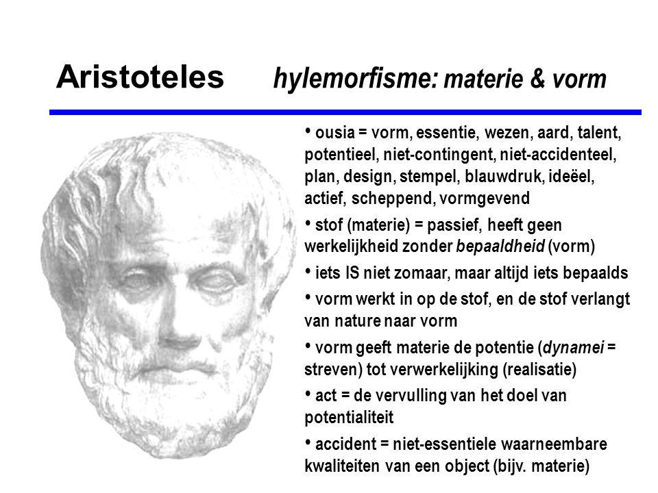 Aristoteles hylemorfisme: materie & vorm