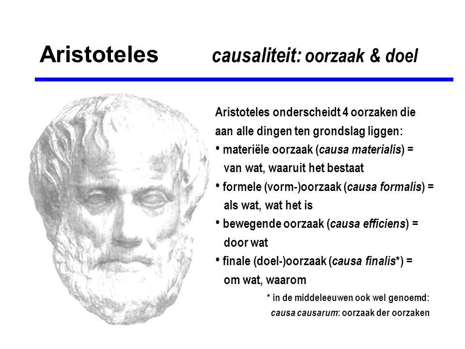 Aristoteles causaliteit: oorzaak & doel