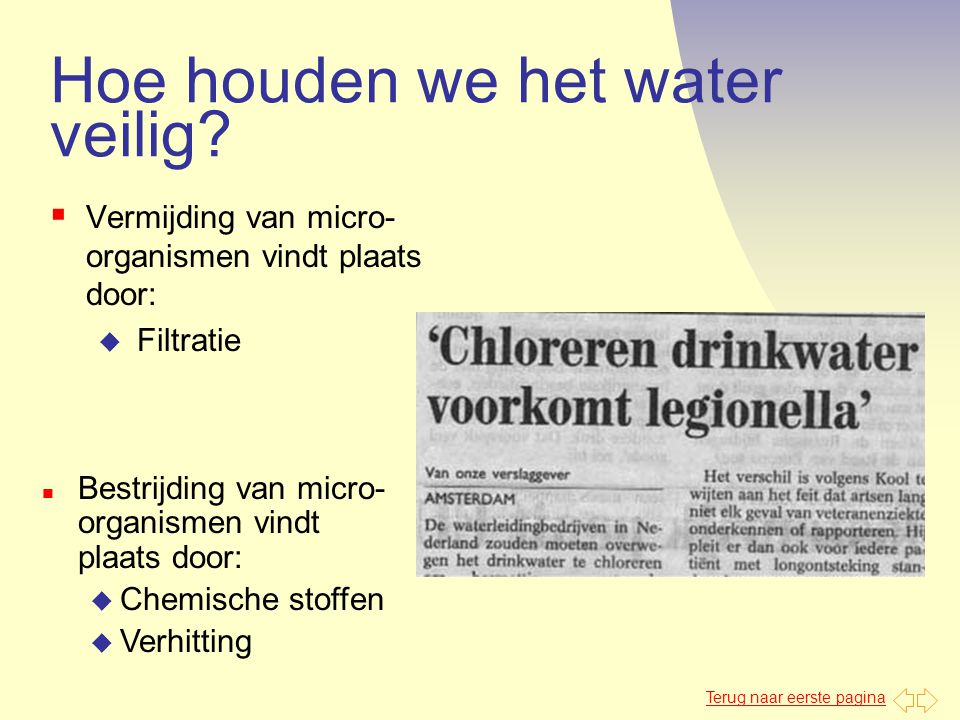 Hoe houden we het water veilig
