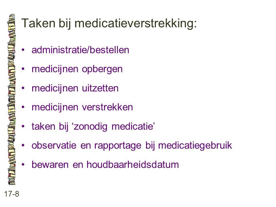 Taken bij medicatieverstrekking: