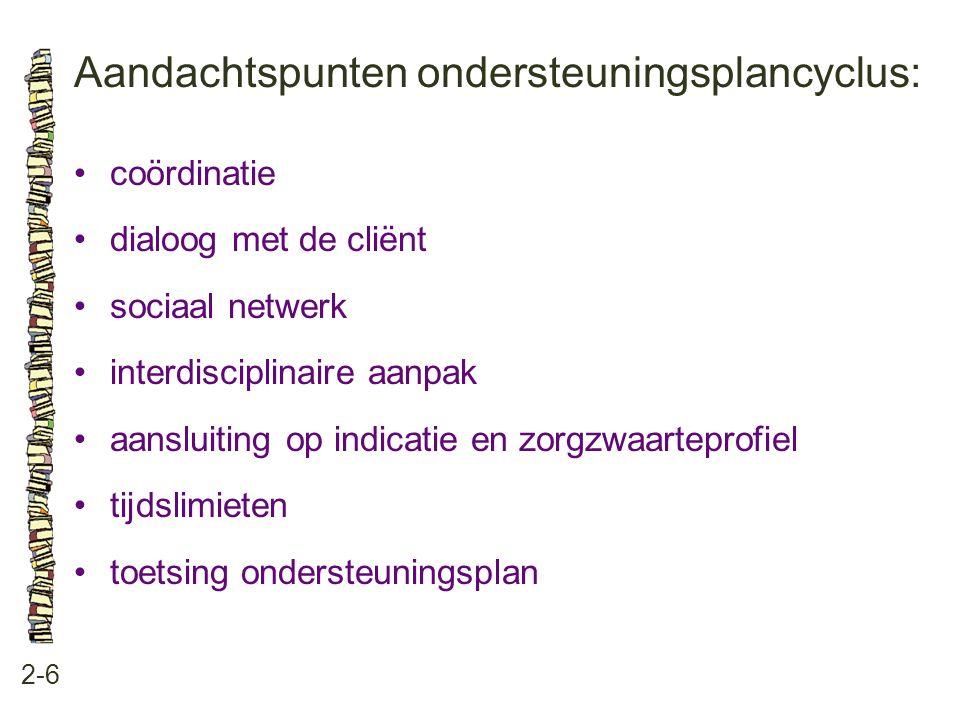 Aandachtspunten ondersteuningsplancyclus: