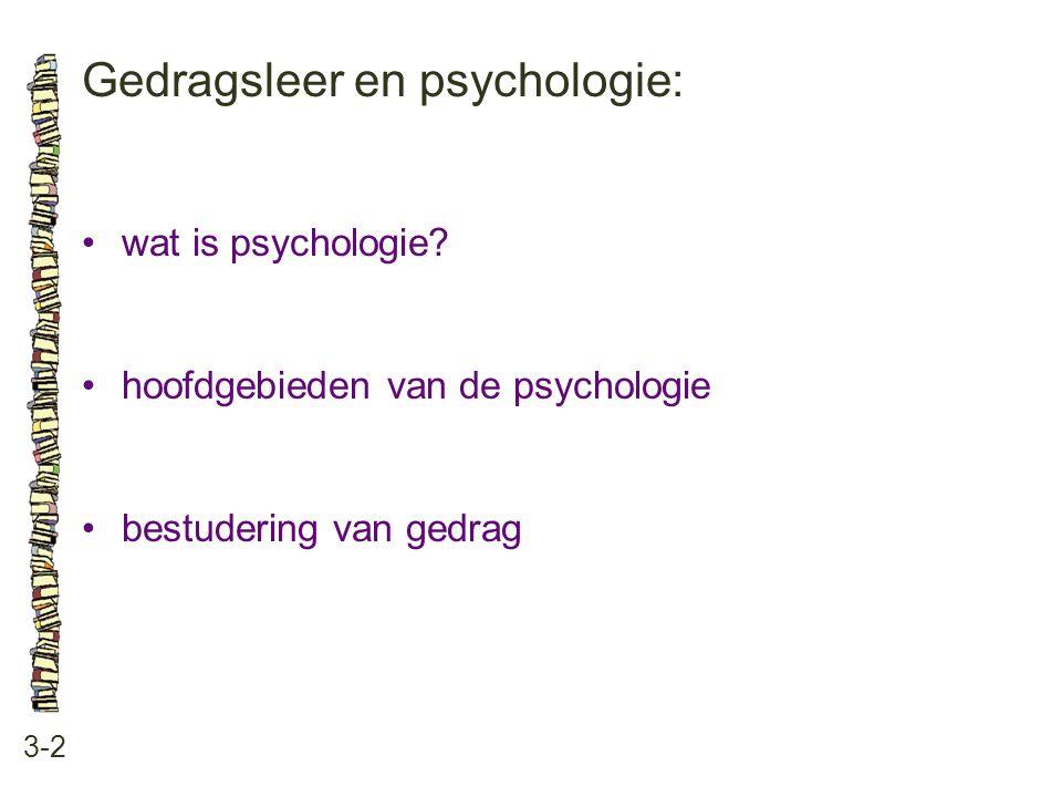 Gedragsleer en psychologie:
