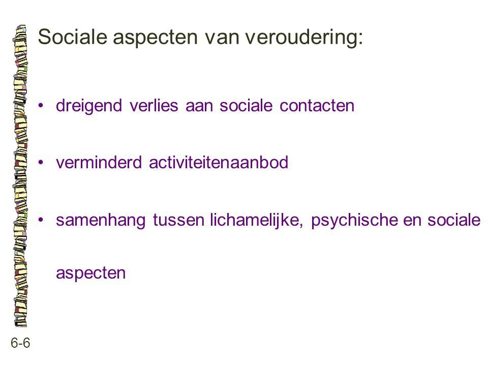 Sociale aspecten van veroudering: