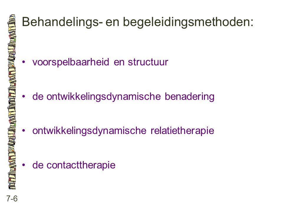 Behandelings- en begeleidingsmethoden: