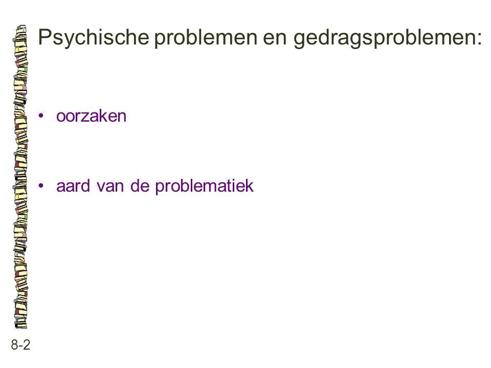 Psychische problemen en gedragsproblemen: