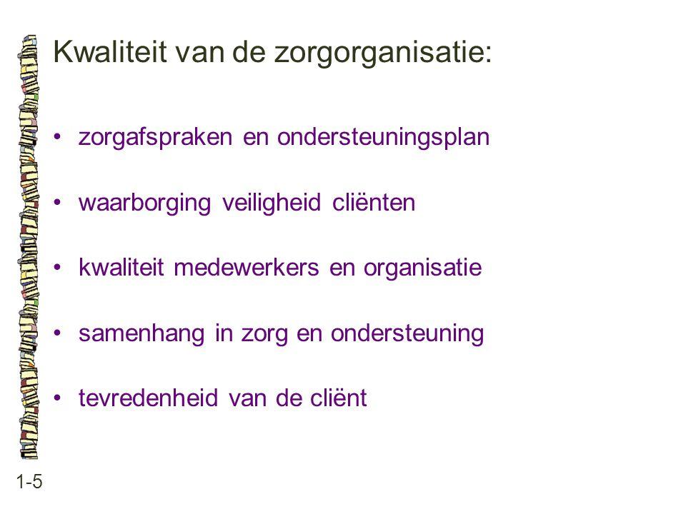 Kwaliteit van de zorgorganisatie: