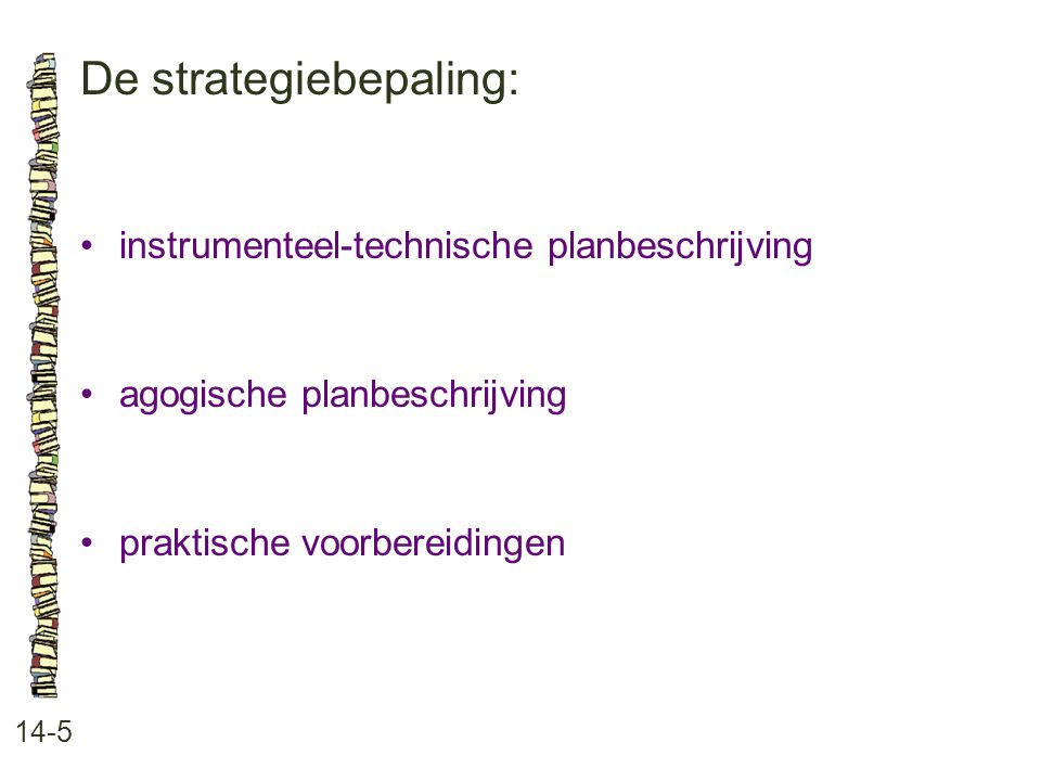 De strategiebepaling: