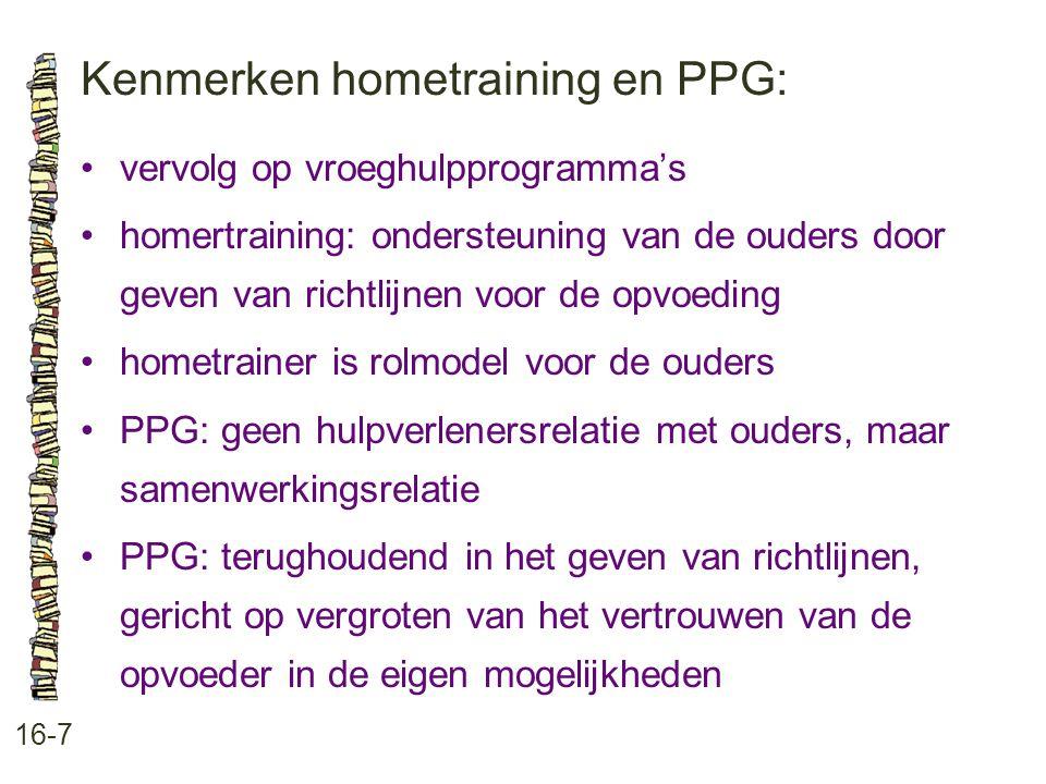 Kenmerken hometraining en PPG: