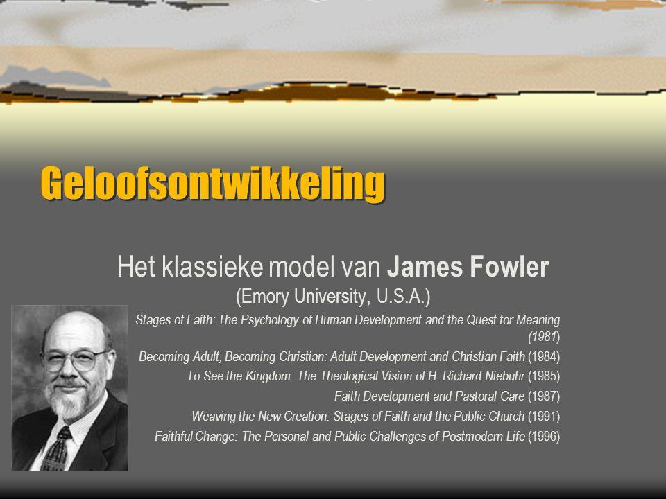 Het klassieke model van James Fowler (Emory University, U.S.A.)