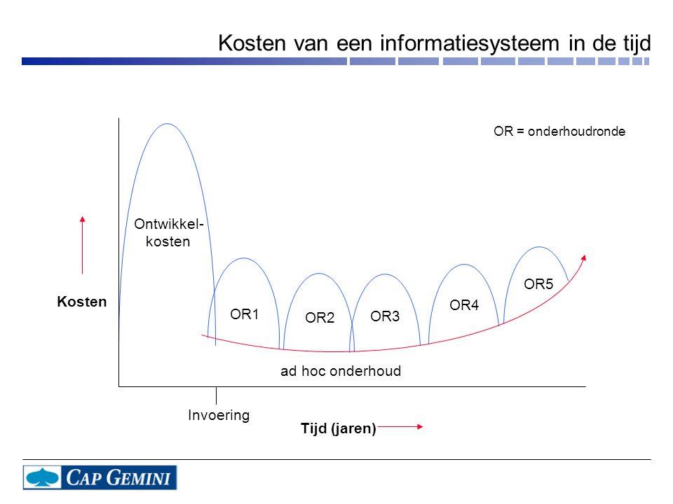 Kosten van een informatiesysteem in de tijd