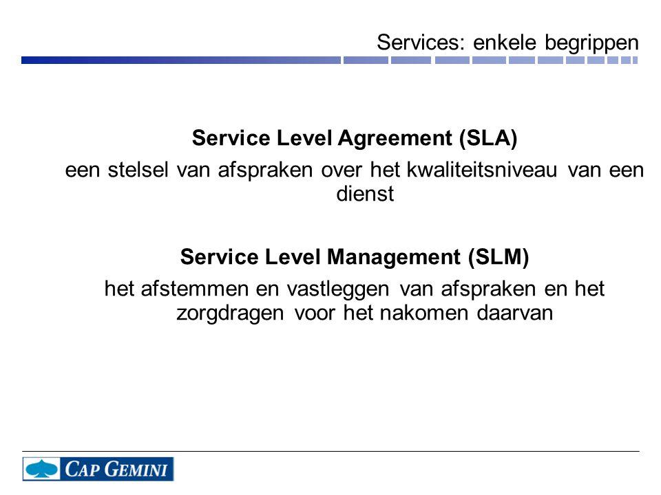 Services: enkele begrippen