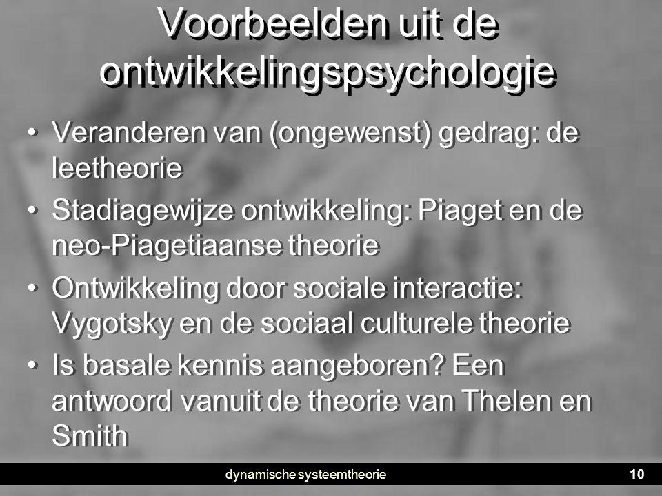 Voorbeelden uit de ontwikkelingspsychologie