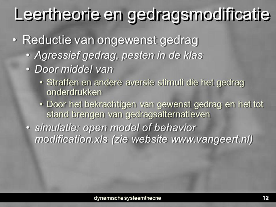 Leertheorie en gedragsmodificatie