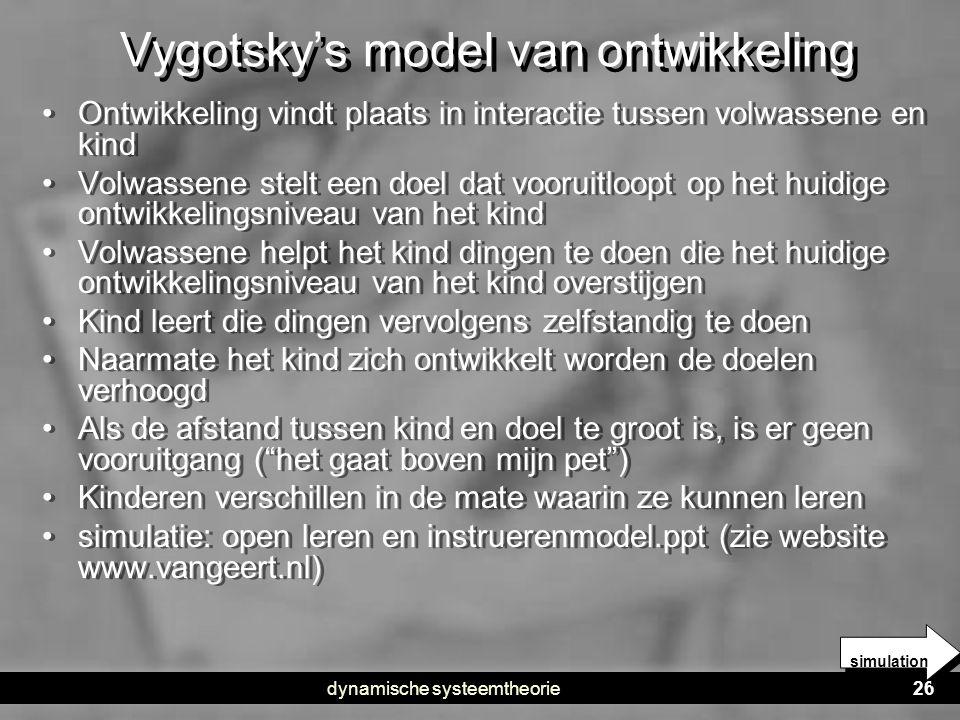Vygotsky's model van ontwikkeling