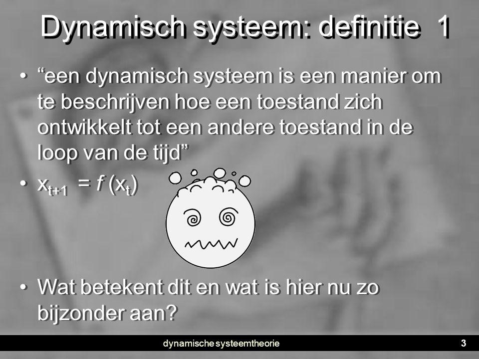 Dynamisch systeem: definitie 1