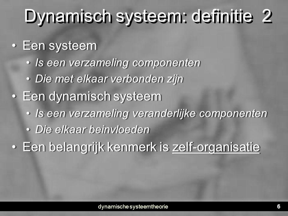 Dynamisch systeem: definitie 2