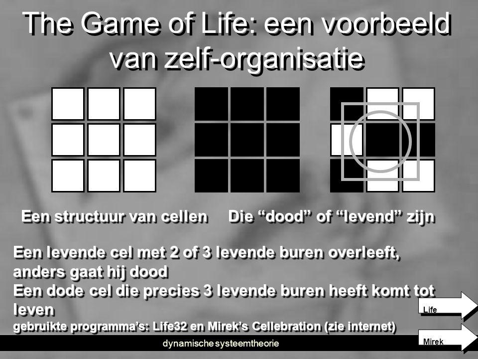 The Game of Life: een voorbeeld van zelf-organisatie