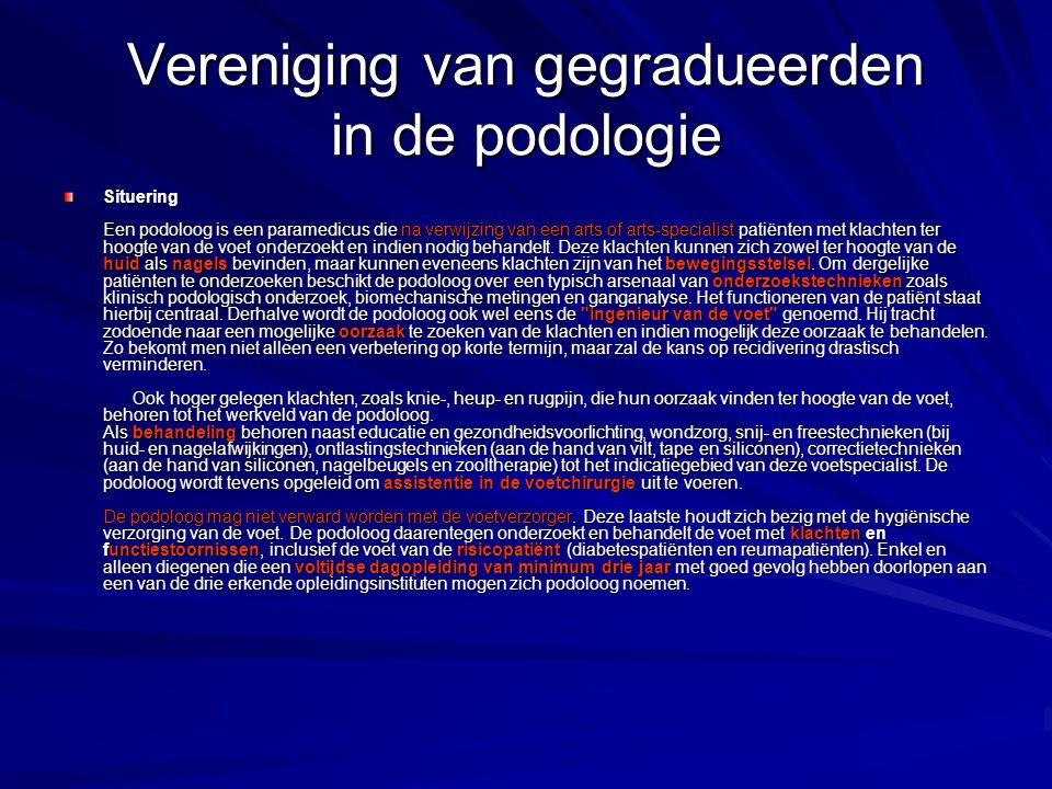 Vereniging van gegradueerden in de podologie