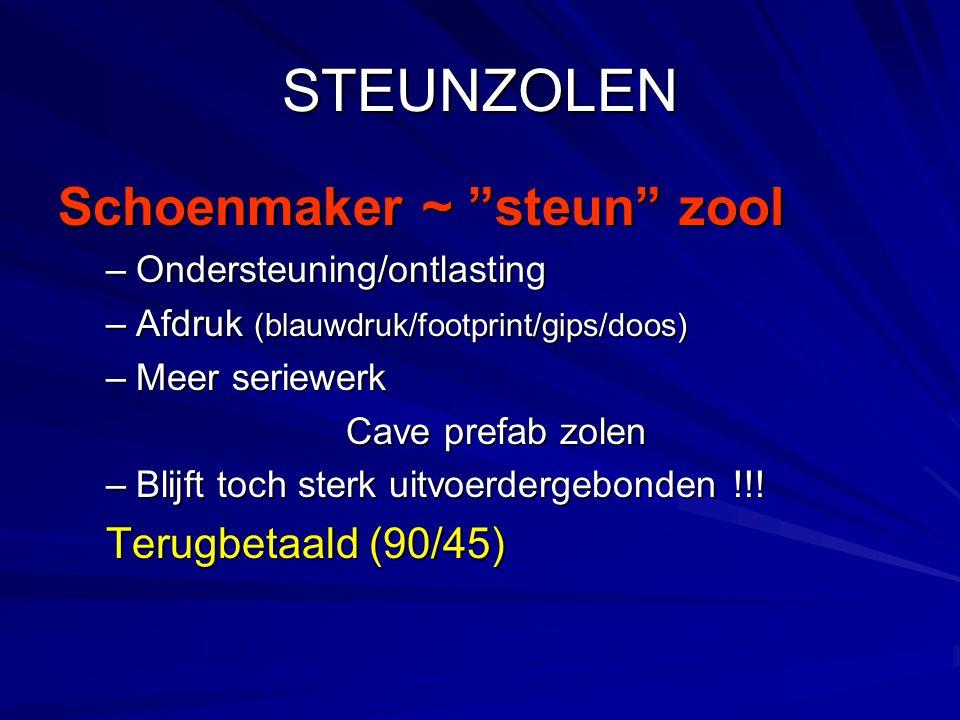 STEUNZOLEN Schoenmaker ~ steun zool Terugbetaald (90/45)