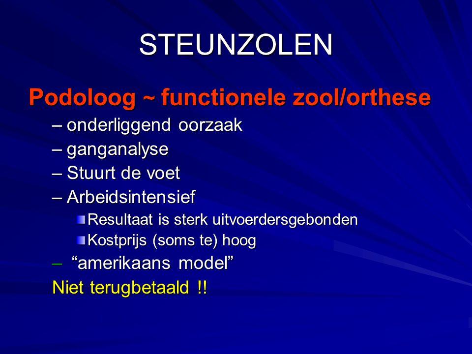 STEUNZOLEN Podoloog ~ functionele zool/orthese onderliggend oorzaak