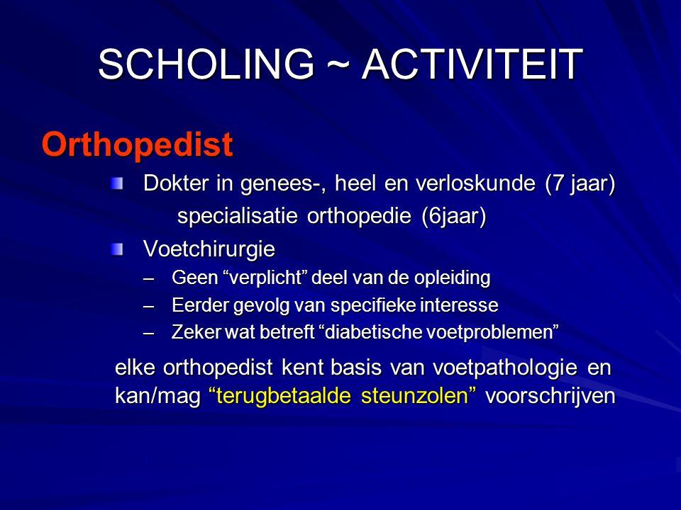 SCHOLING ~ ACTIVITEIT Orthopedist