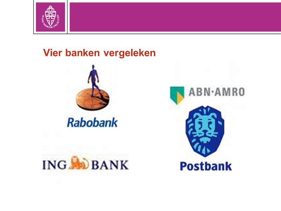 Vier banken vergeleken