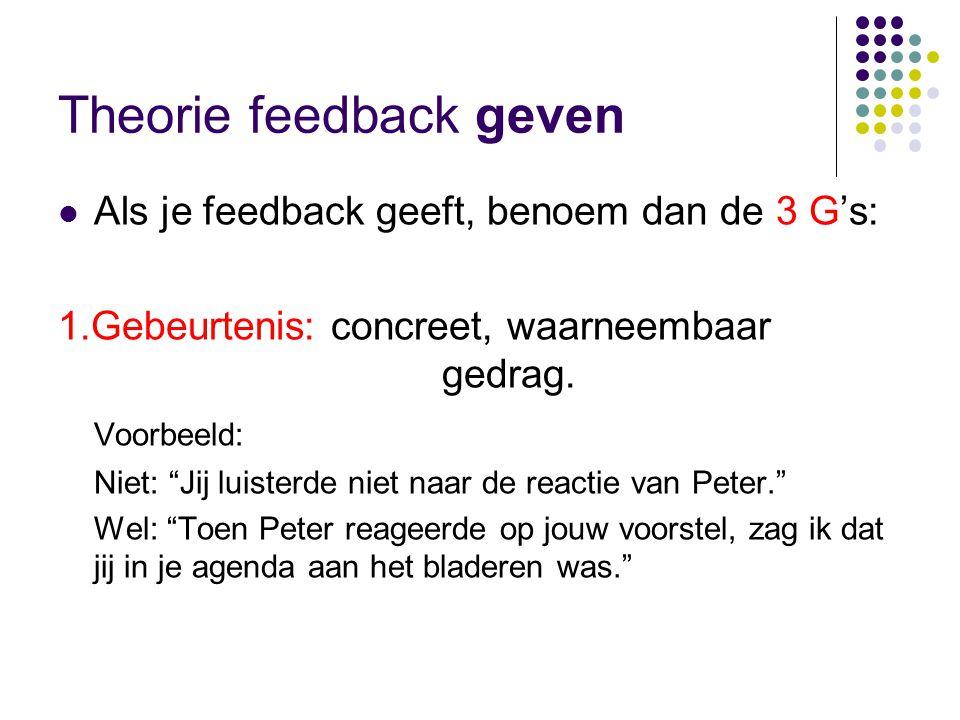 Theorie feedback geven