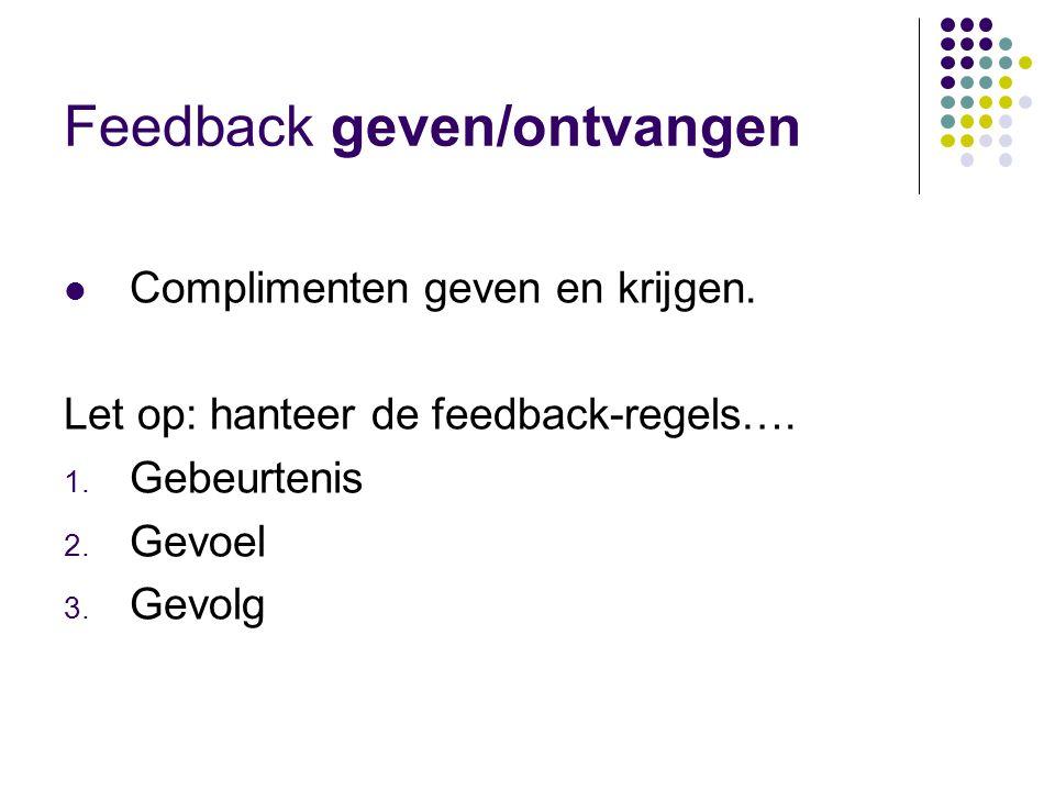 Feedback geven/ontvangen