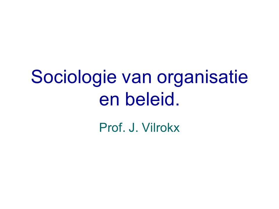 Sociologie van organisatie en beleid.
