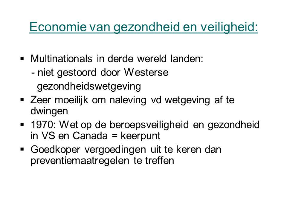 Economie van gezondheid en veiligheid: