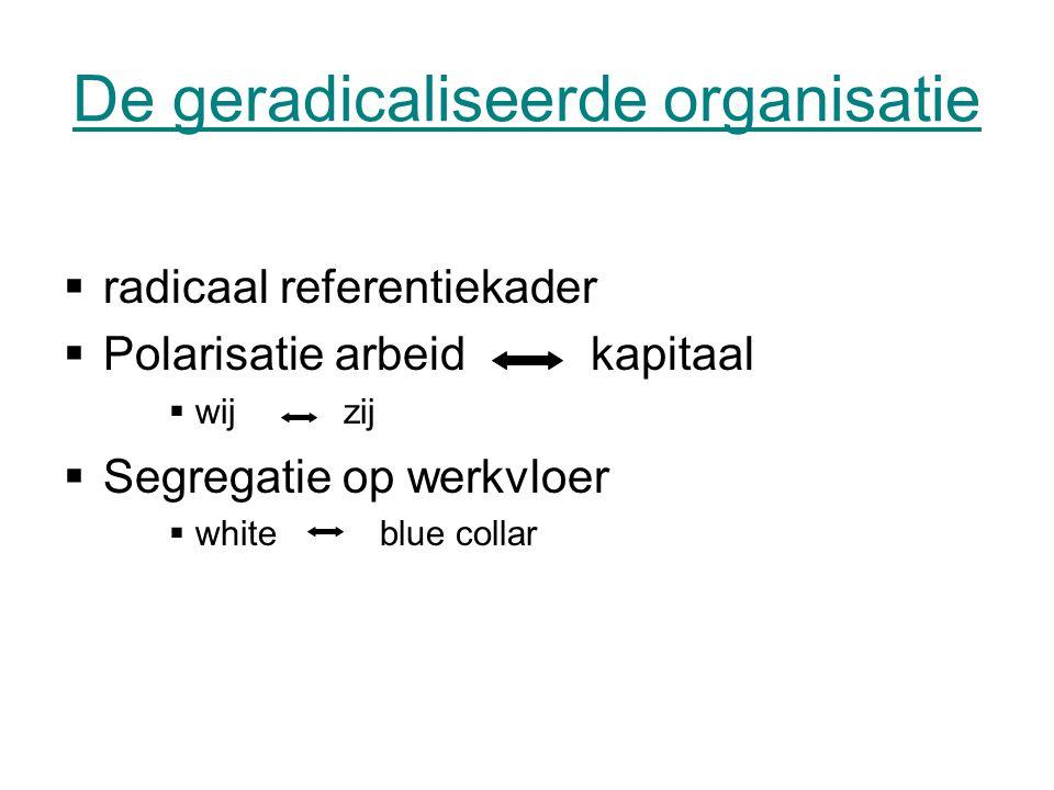 De geradicaliseerde organisatie