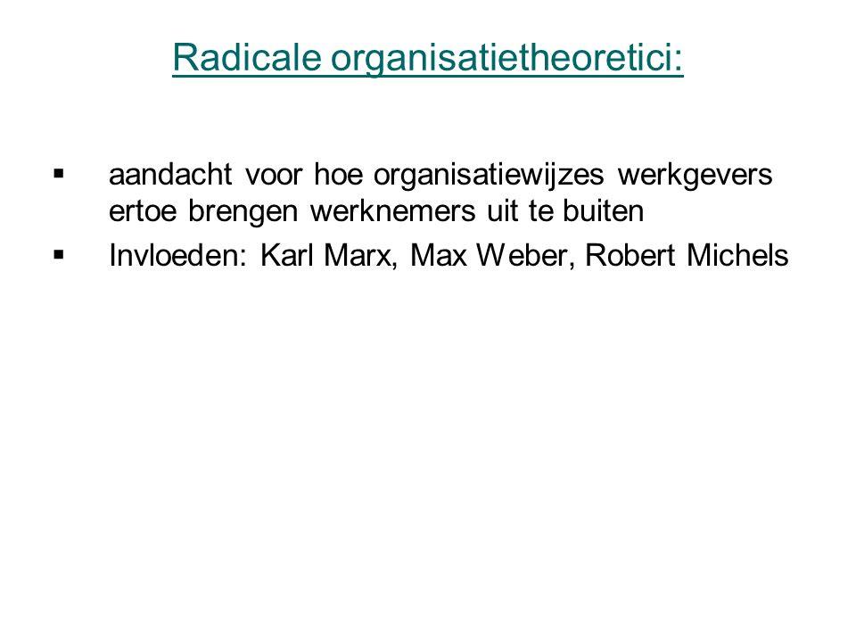 Radicale organisatietheoretici: