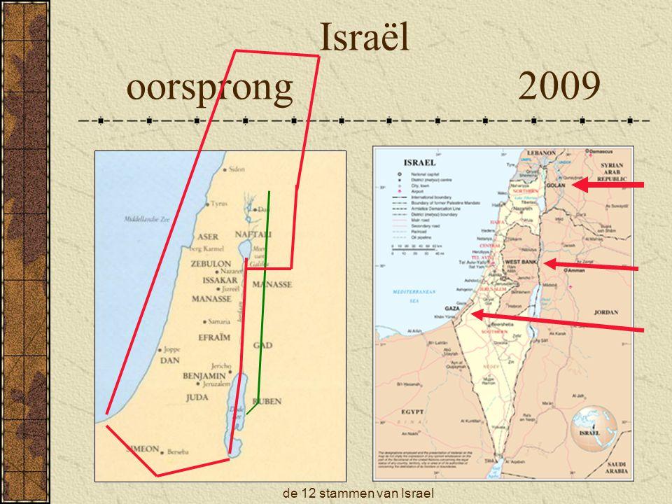 Israël oorsprong 2009 de 12 stammen van Israel