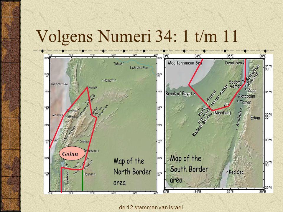 Volgens Numeri 34: 1 t/m 11 Golan de 12 stammen van Israel