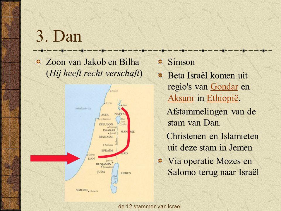 3. Dan Zoon van Jakob en Bilha (Hij heeft recht verschaft) Simson