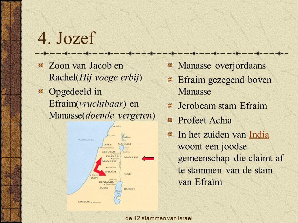 4. Jozef Zoon van Jacob en Rachel(Hij voege erbij)
