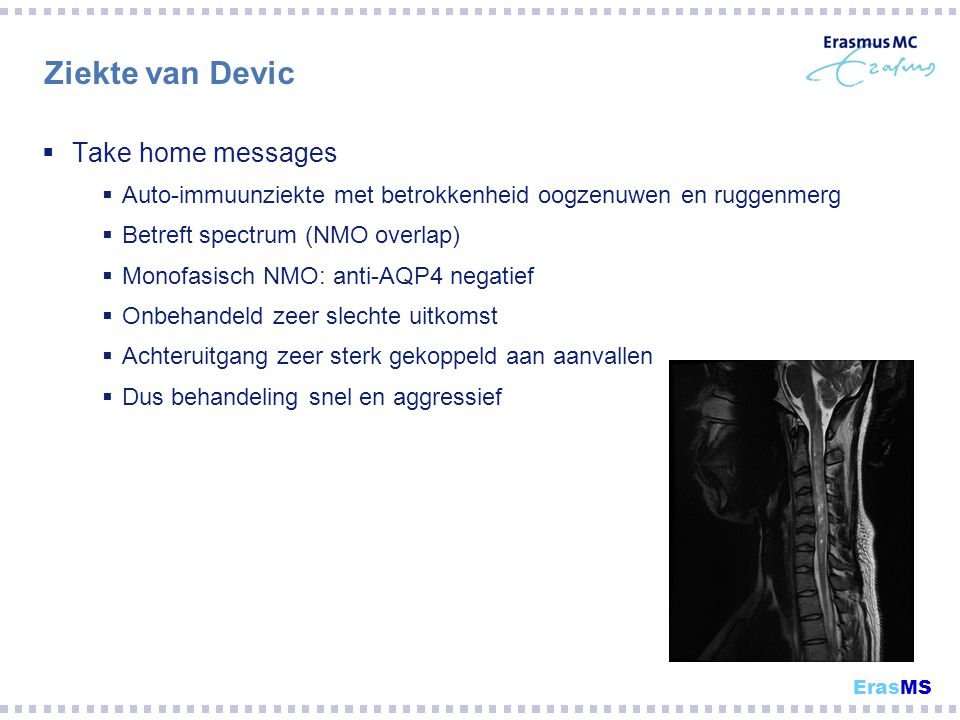 Ziekte van Devic Take home messages