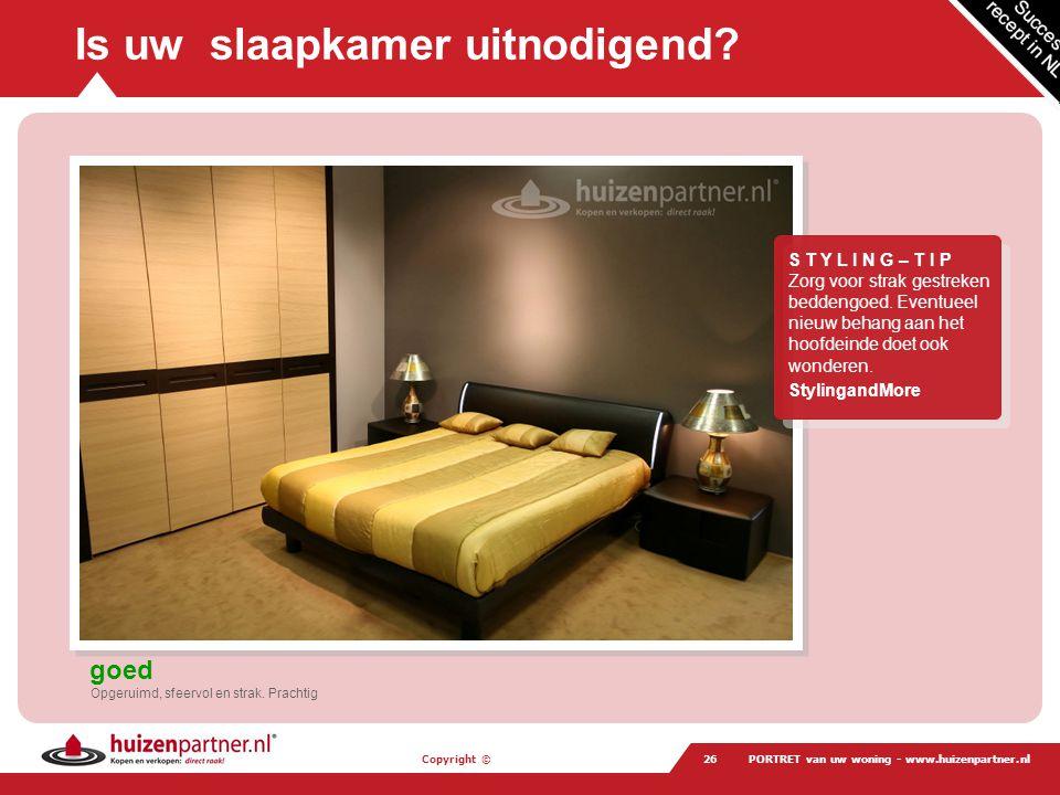 Is uw slaapkamer uitnodigend