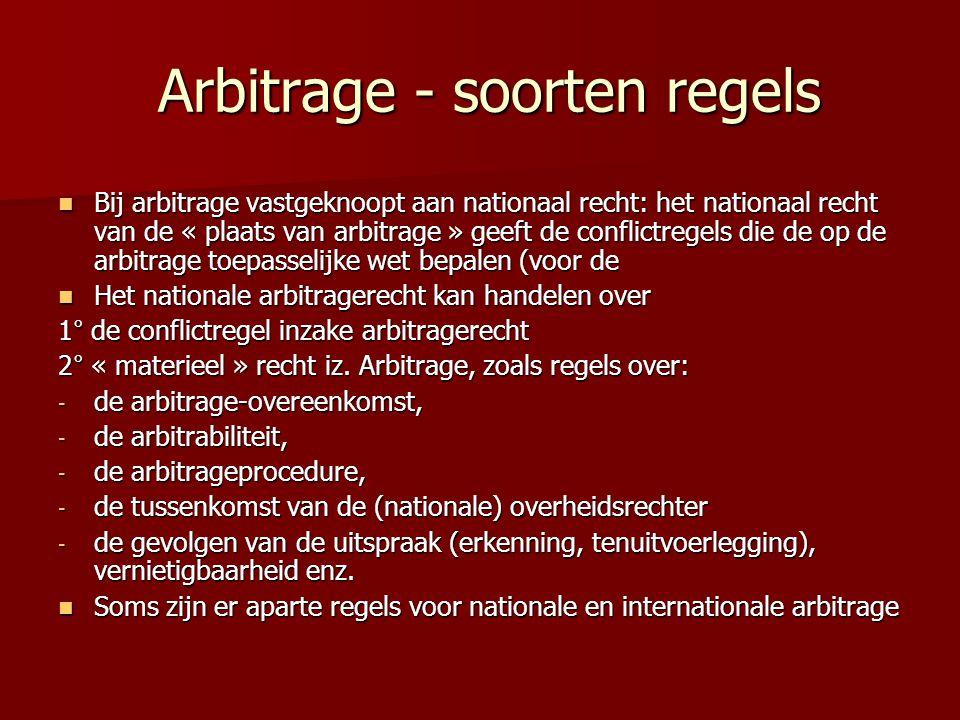 Arbitrage - soorten regels