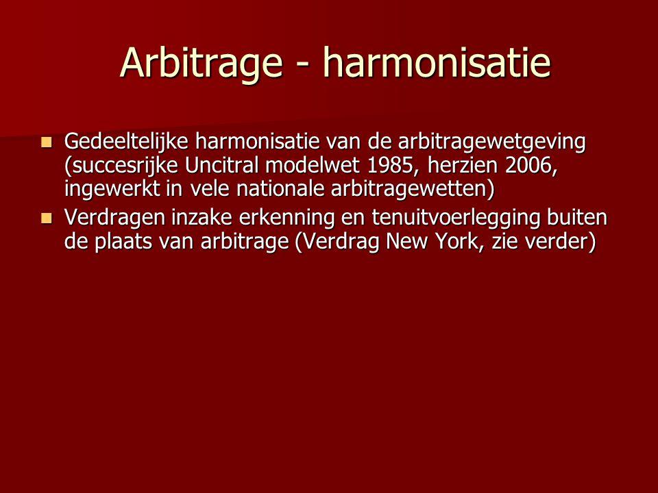 Arbitrage - harmonisatie