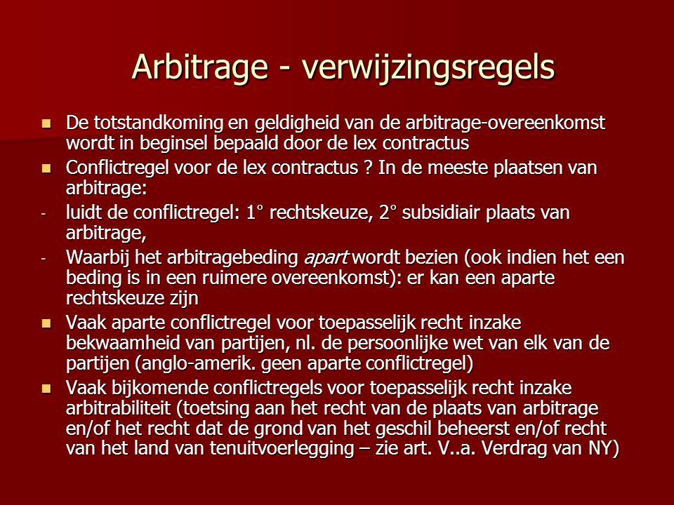 Arbitrage - verwijzingsregels