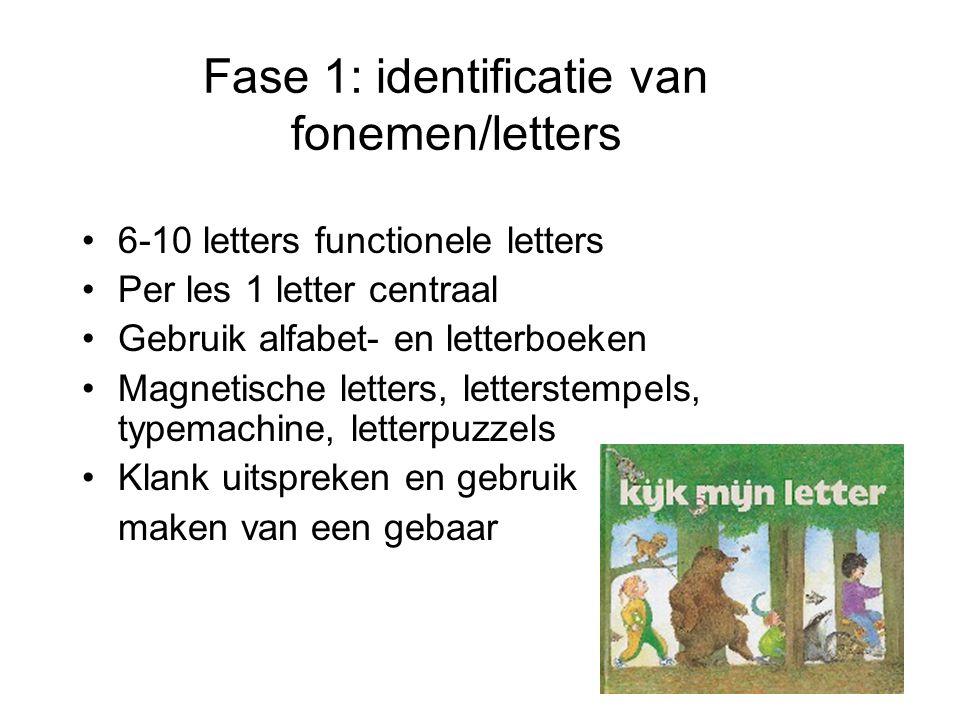 Fase 1: identificatie van fonemen/letters