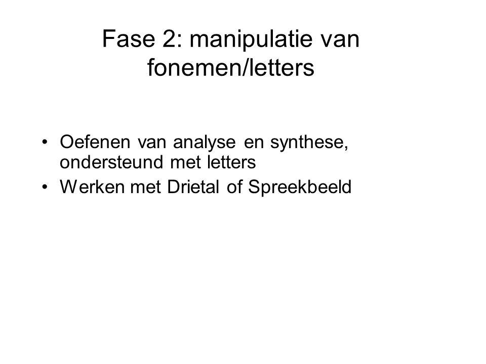 Fase 2: manipulatie van fonemen/letters