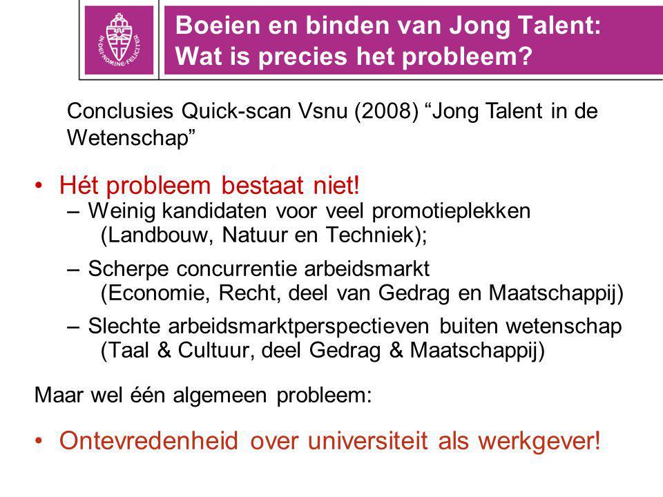 Boeien en binden van Jong Talent: Wat is precies het probleem