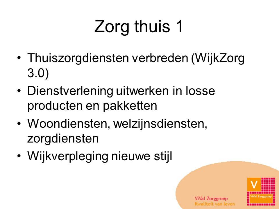 Zorg thuis 1 Thuiszorgdiensten verbreden (WijkZorg 3.0)