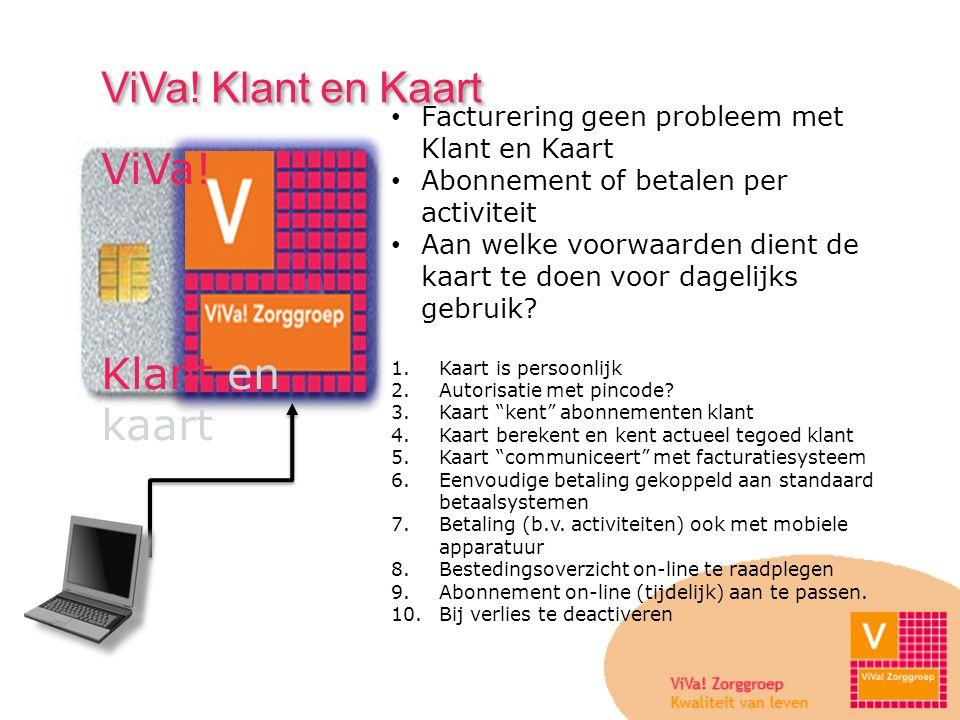 ViVa! Klant en Kaart ViVa! Klant en kaart